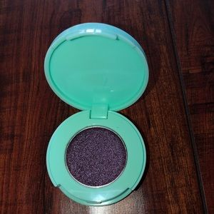 Shimmery purple eyeshadow